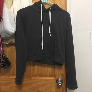 grey hoodie, very warm